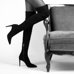 buty kozaki czarne za kolano