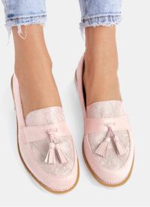 buty mokasyny rozowe
